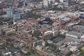 Higher Cambridge Street and MMU buildings and redevelopments on Booth street and Oxford Road Manchester