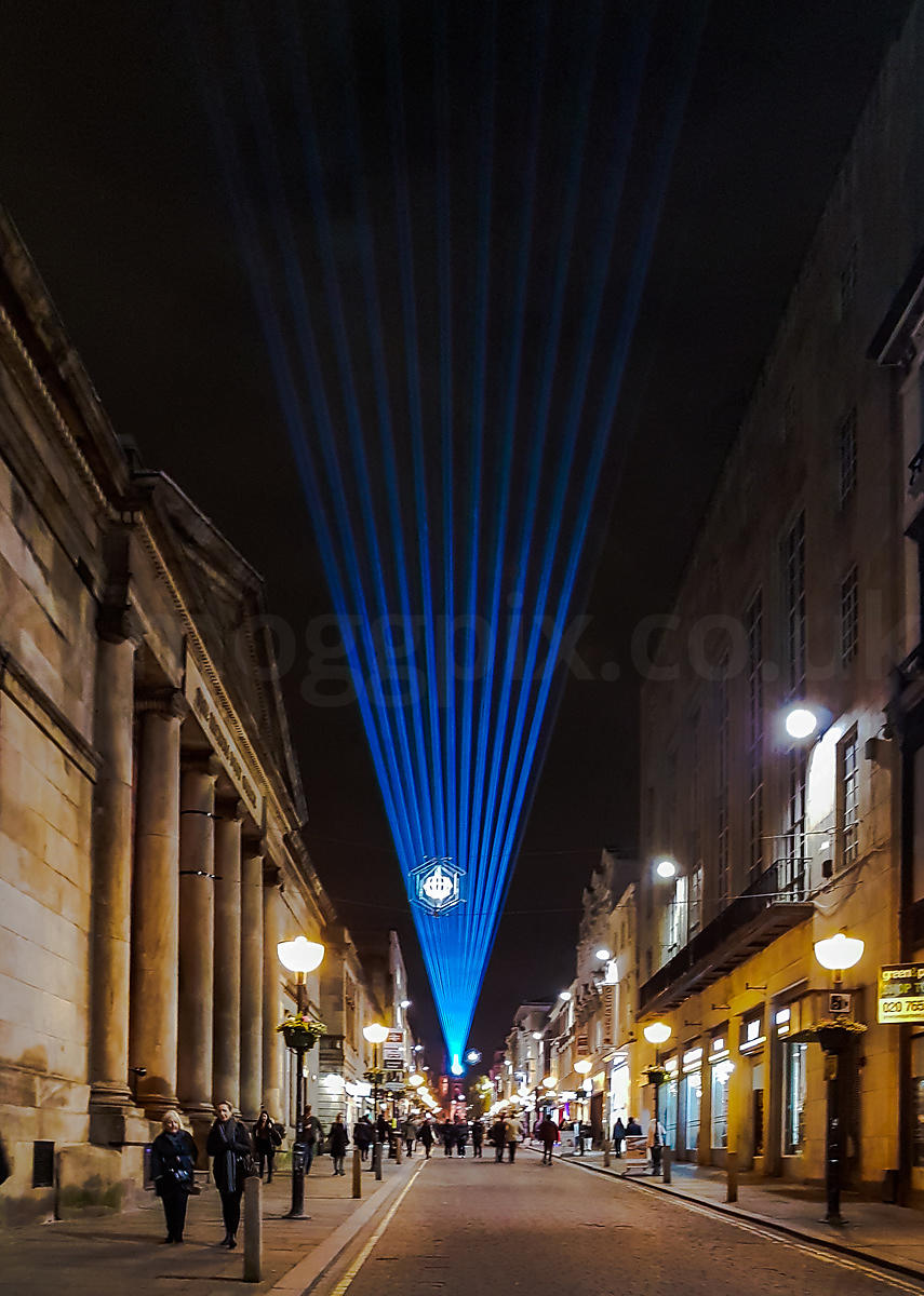 Light Beams Above Bold Street