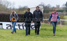 Course walking - The Quorn at Garthorpe 21st April 2013.