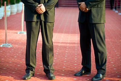 Bosnia - Sarajevo - Security guards on the Red Carpet