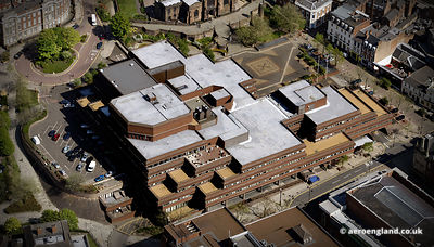 aerial photograph of Wolverhampton City Council .Civic Centre Ring Rd St Peters Wolverhampton, West Midlands WV1 1SH  UK