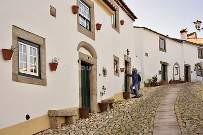 The cobbledstoned streets of the medieval village of Marvão. Alentejo, Portugal (MR)