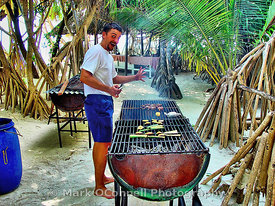 Mosaique beach BBQ in the Seychelles