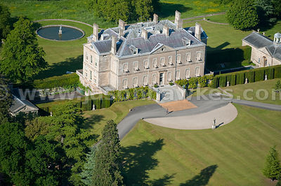 Aerial view of Buscot Park