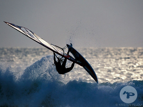 Windsurfing in Fort Bloque, Brittany, France