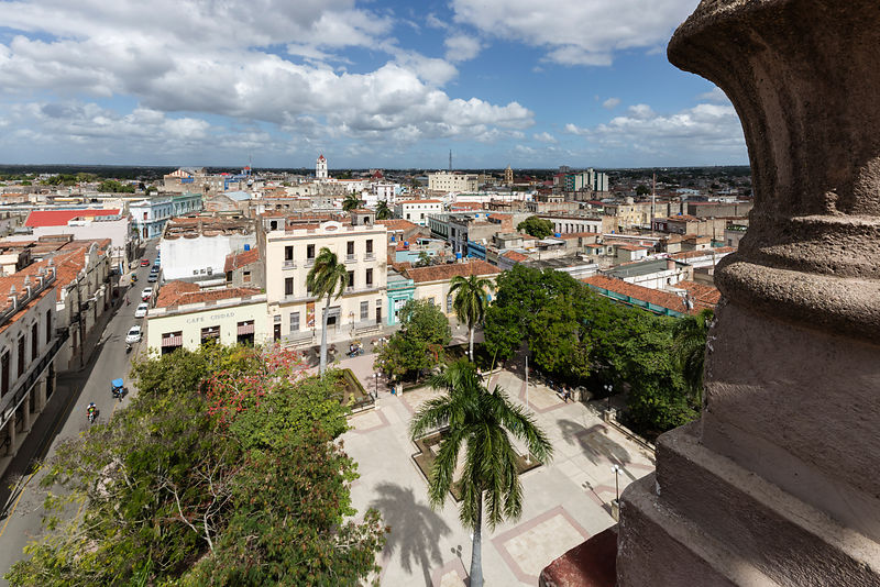 Elevated View of Plaza Agramonte and Camaguey