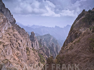 Rocky mountain, Shennongjia National Park, china, elevated view
