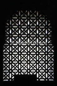 Window in La Mezquita, Cordoba's Great Mosque dating from 785AD, now Cordoba's cathedral, Andalusia, Spain