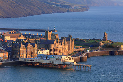 Aberystwyth castle and Old College from Constitution Hill