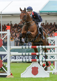 Kristina Cook and DE NOVO NEWS - show jumping phase, Burghley Horse Trials 2013.