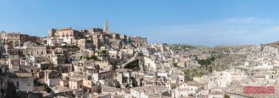 Panoramic of the famous Stones of Matera, Matera, Italy