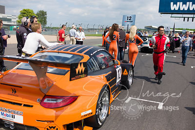 Trackspeed Porsche 997 GT3 R on the starting grid at the Silverstone 500 - the third round of the British GT Championship 201...