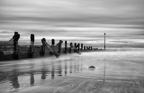 Reflections in the ocean (B&W) fine art print
