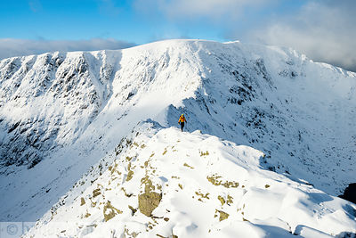 Striding Edge, Helvellyn, winter - BP3336