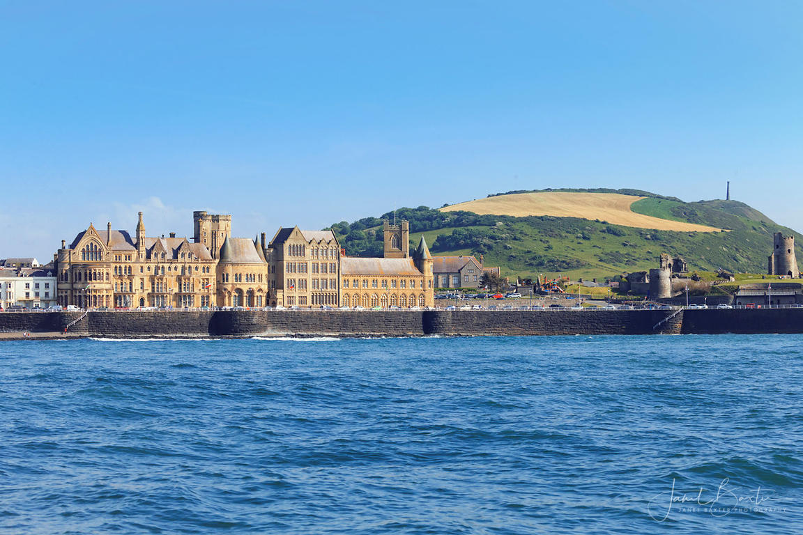 Old College, Aberystwyth, from the sea
