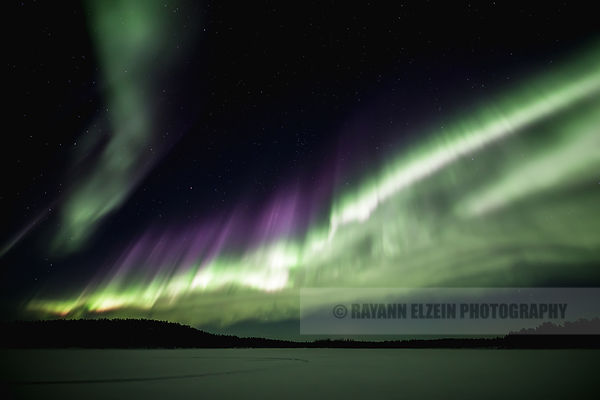 Strong aurora in the south sky