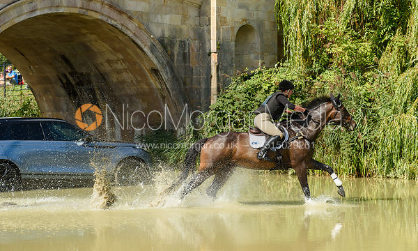 Hazel Towers and SIMPLY CLOVER, cross country phase, Land Rover Burghley Horse Trials 2018