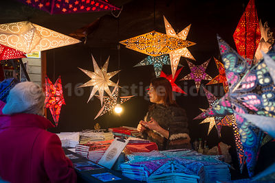 Novelty lighting Fixtures on a stall at the Ghent Christmas Market