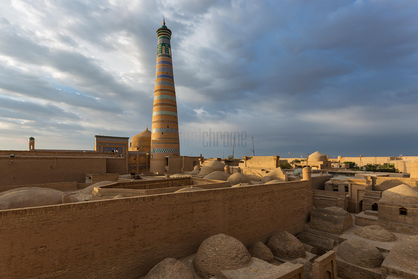 The Islam Khodja Minaret at Sunrise