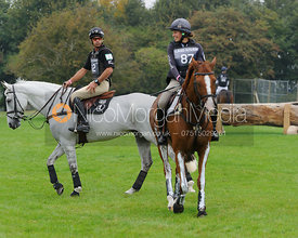 Andrew Nicholson and AVEBURY, Polly Jackson and PAPILLON - cross country phase,  Land Rover Burghley Horse Trials, 6th Septem...