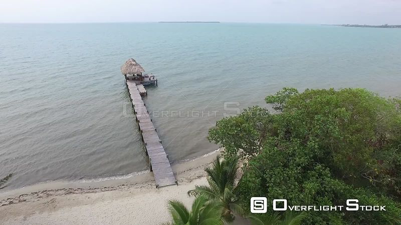 Palapa and Pier in Placencia, Belize