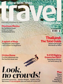 Cover Sunday Times Travel Magazine Nov 18