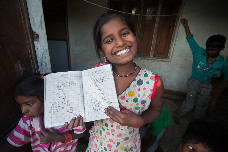 Anju speaks three languages and has learned to read on a 6th grade level!