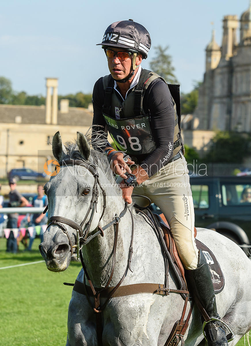 Andrew Nicholson and SWALLOW SPRINGS, cross country phase, Land Rover Burghley Horse Trials 2018