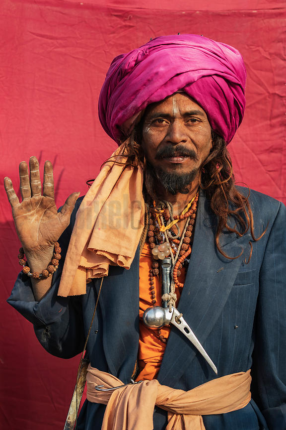 Sadhu with a Titanium Hip Implant Hanging around his Neck
