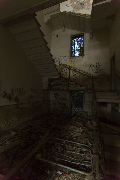 Poveglia, Venice, Italy, February 2015.The island is located in the Venice lagoon. This island was a former sanatorium, which...