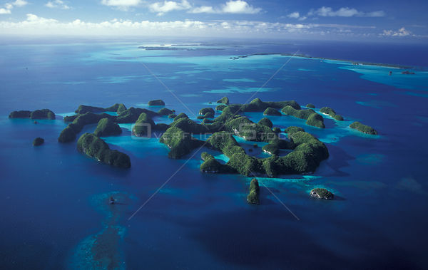 Aerial view of Seventy Islands World Heritage Site, Palau, Micronesia