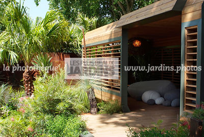 Australian garden, Pergola, Tropical garden, Digital, Hemp palm