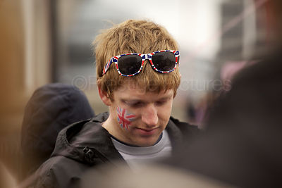 Young Man with Union Jack Sunglasses
