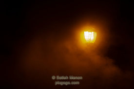 Lamp and Smoke, Columbia, Maryland, USA