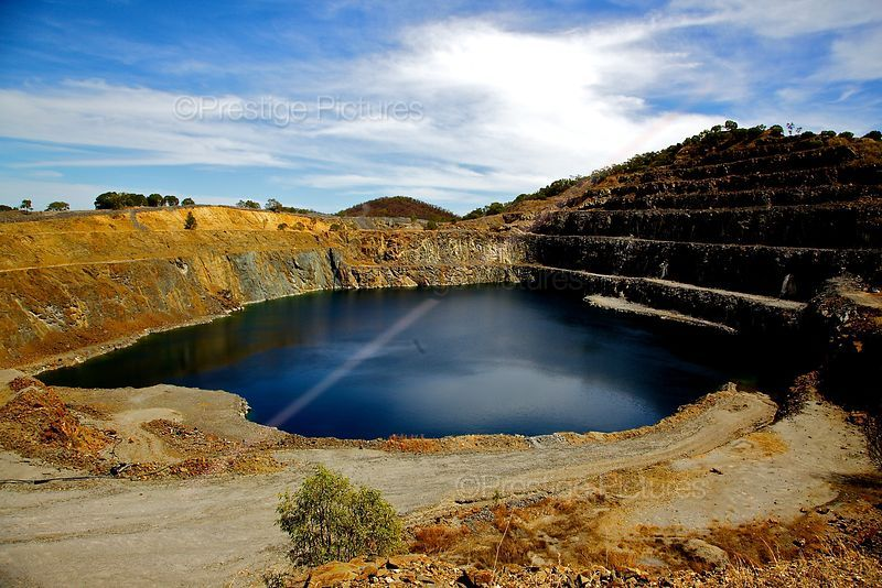 Open cast Disused Tungsten Mine in Australia