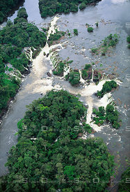Waterfall on Jari River Amazon Region Brazil