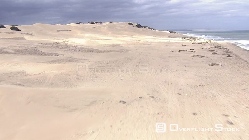 Sand dunes on the Eastern Cape coastline South Africa
