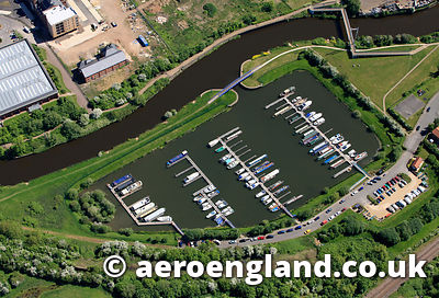 aerial photograph of Newark Marina