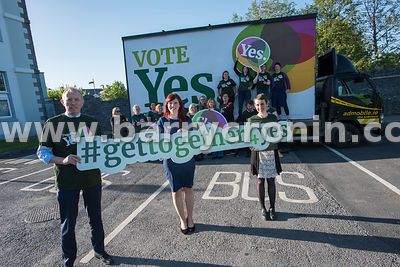 NO REPRO FEES - 11th May, 2018. Pictured at the 'Get Together For Yes' tour at the Temple Gate Hotel, Ennis were volunteers a...