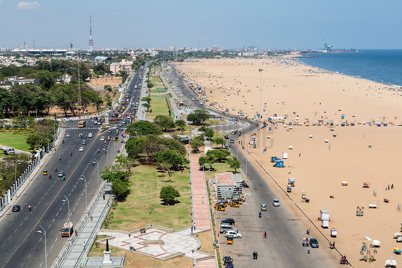 Elevated View of Marina Beach from the Lighthouse