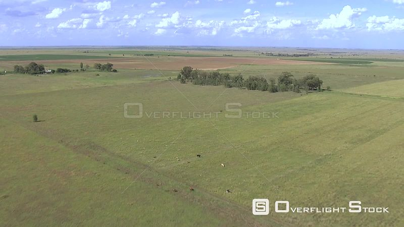 Aerial shot of a field in Bloemfontein Bloemfontein Free State South Africa