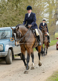 on the road - The South Shropshire and Belvoir Hunts at Belvoir Castle 11/3/17