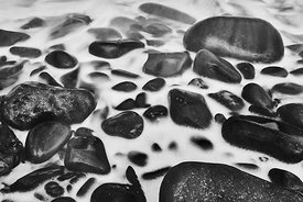 Washed Rocks (Black and White)