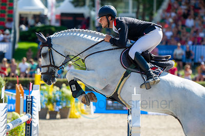 29/07/18, Berlin, Germany, Sport, Equestrian sport Global Jumping Berlin - Championat der DKB von Berlin -   Image shows RHOM...
