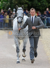Harry Dzenis and XAM - First Horse Inspection, Mitsubishi Motors Badminton Horse Trials 2014