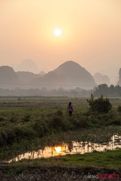 Landscape near Yangshuo, Guilin, China