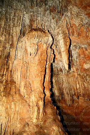 Stalactite formations in Umajalanta caves, Torotoro National Park, Bolivia