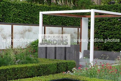 Container, Digital, Pot, Trellis, Buxus, Low hedge, Pergola, Common Box