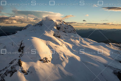 Mt Garibaldi and Glacier Covered in Fresh Snow BC Canada