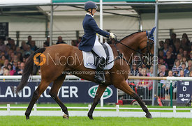 Gemma Tattersall and ARCTIC SOUL - dressage phase,  Land Rover Burghley Horse Trials, 4th September 2014.